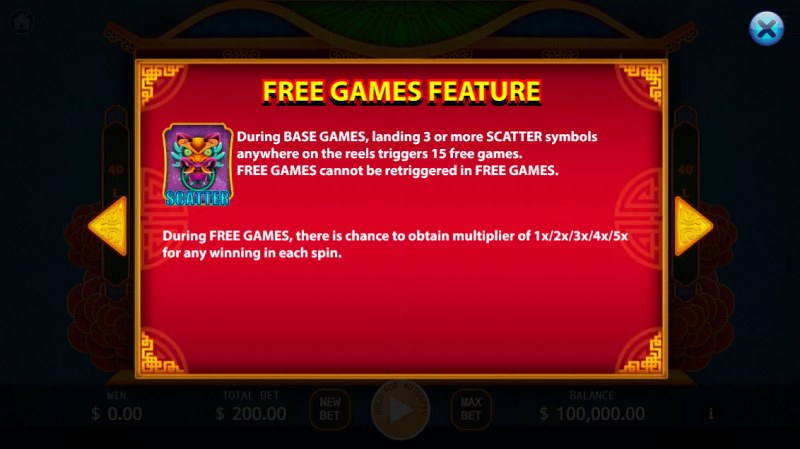 Wan Fu Jin An :: Free Spins Rules