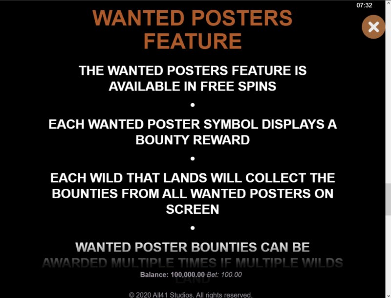 Wanted Outlaws :: Feature Rules