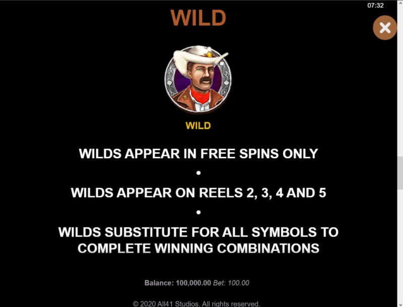 Wanted Outlaws :: Wild Symbol Rules
