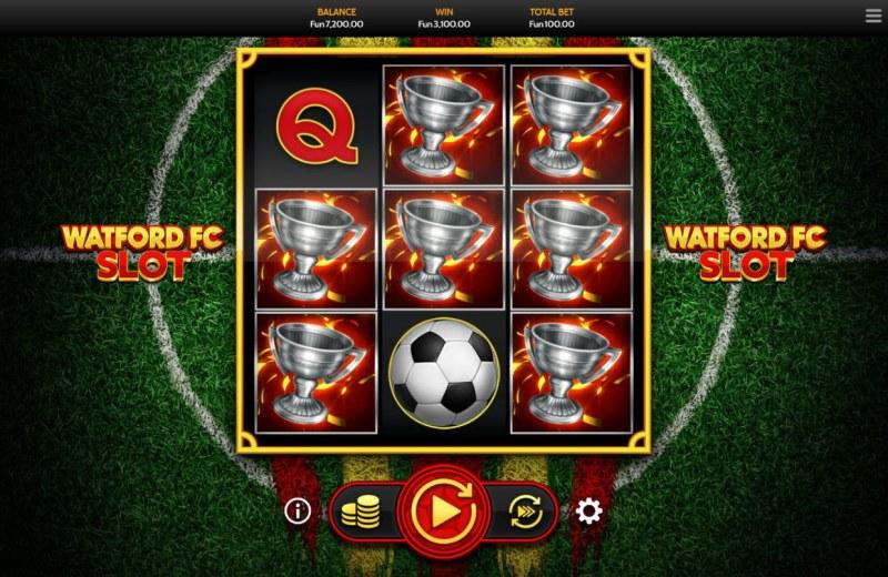 Watford FC Slot :: Trophy symbols combine for a mega payout