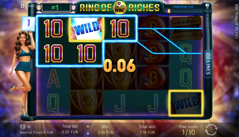 WBC Ring of Riches :: Free Spins Game Board