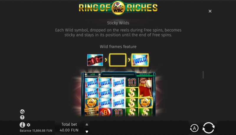 WBC Ring of Riches :: Sticky Wilds