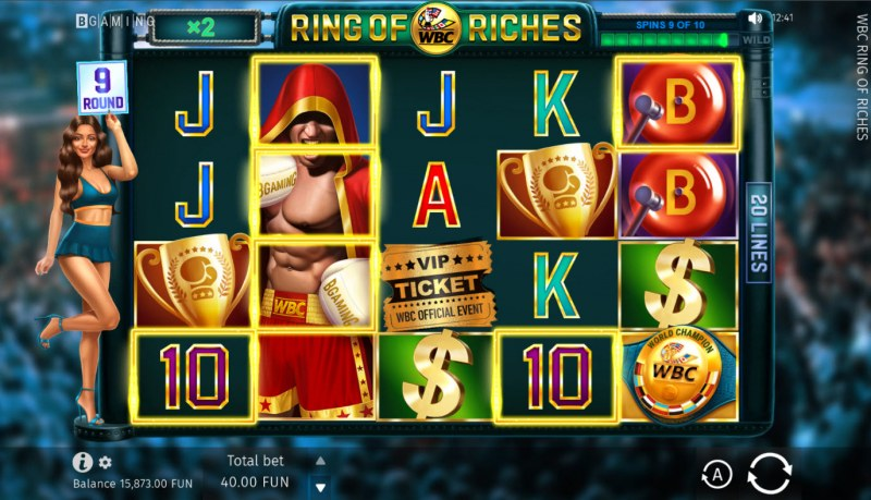 WBC Ring of Riches :: Base Game Screen