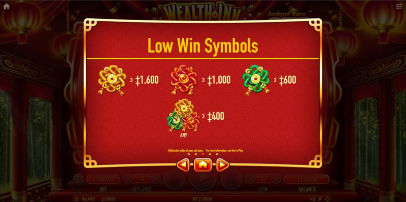 Wealth Inn :: Paytable - Low Value Symbols