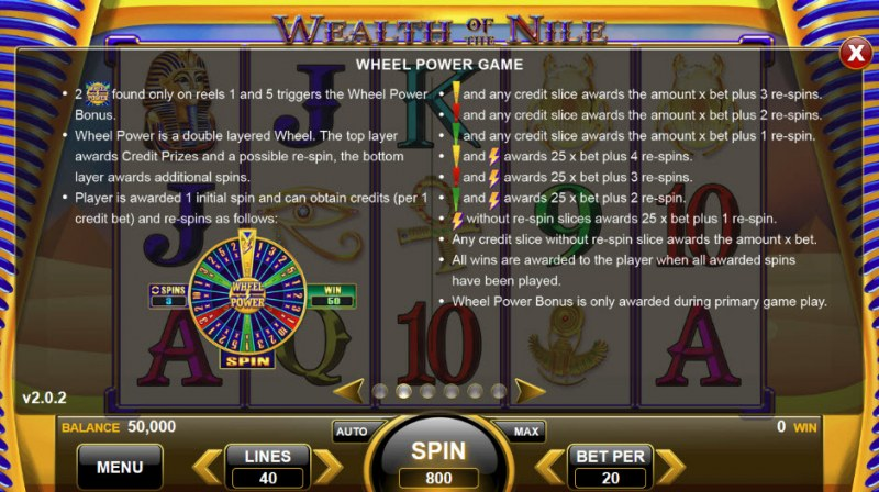Wealth of the Nile :: Wheel Power Game
