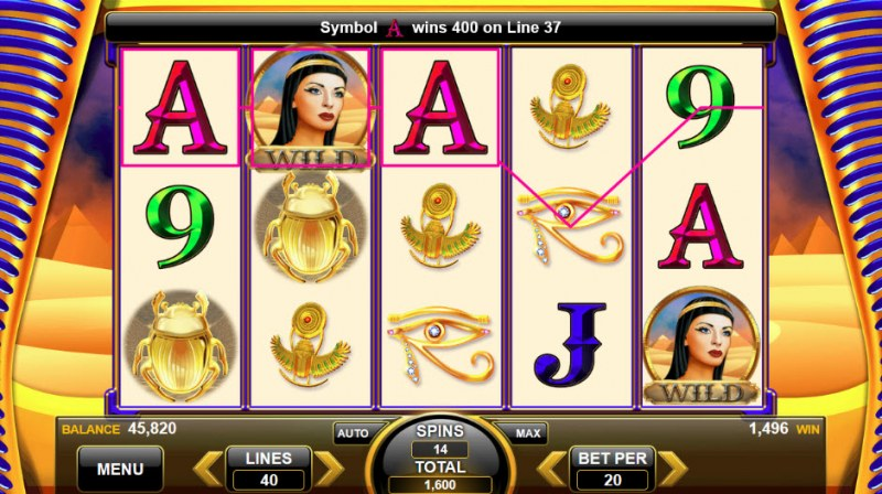 Wealth of the Nile :: Free Spins Game Board