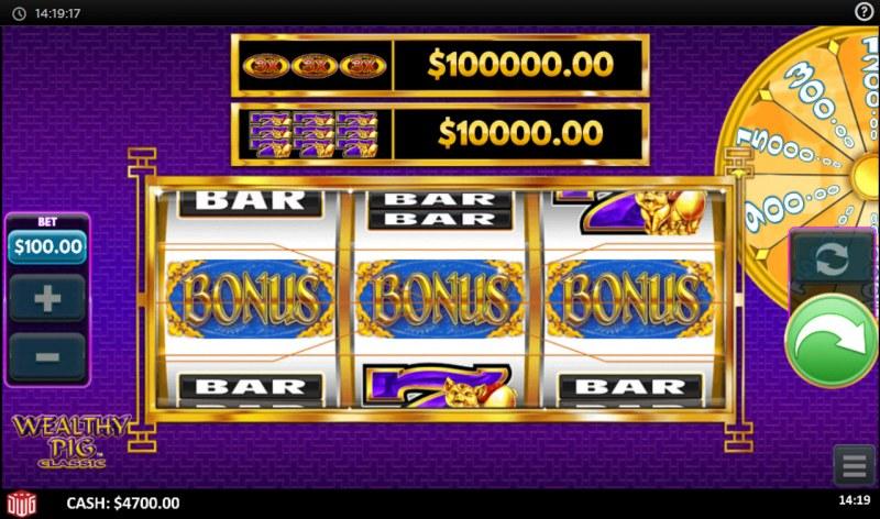 Wealthy Pig Classic :: Bonus triggerd