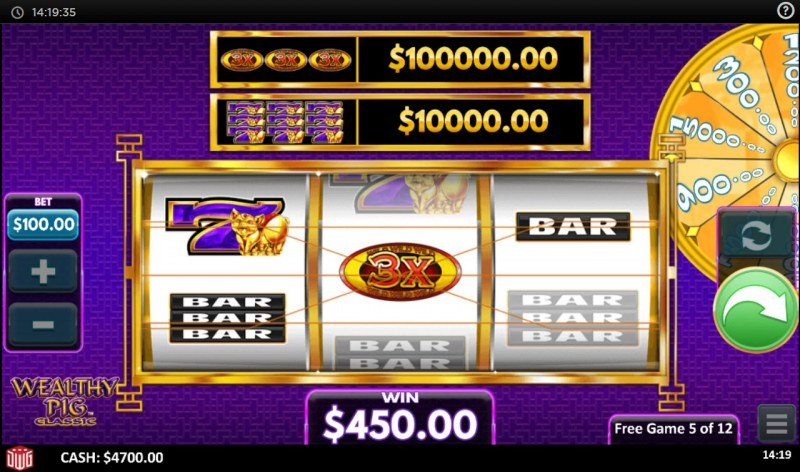 Wealthy Pig Classic :: Free Spins Game Board