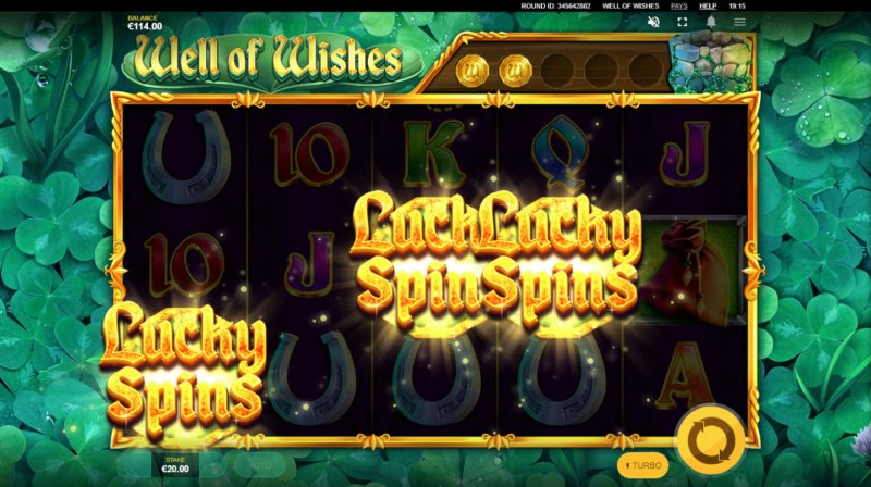 Well of Wishes :: Scatter symbols triggers the free spins feature