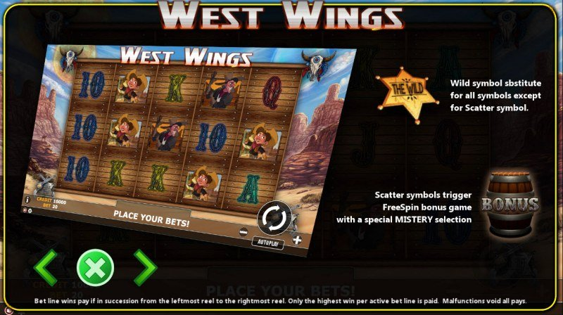 West Wings :: Wild and Scatter Rules