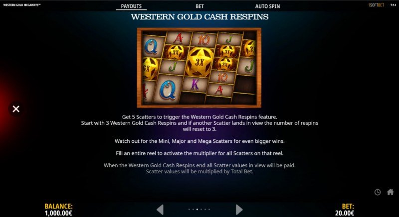 Western Gold Megaways :: Respin Feature