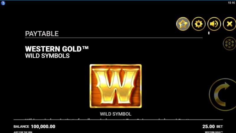 Western Gold :: Wild Symbols Rules