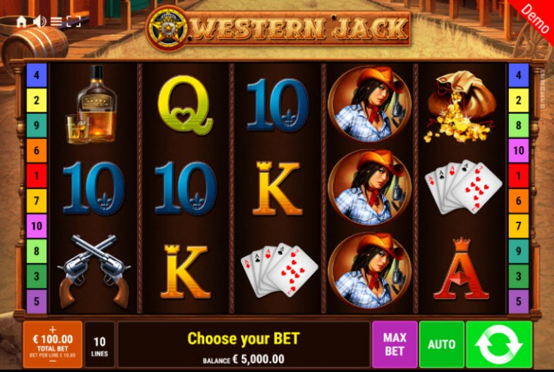 Western Jack :: Main Game Board