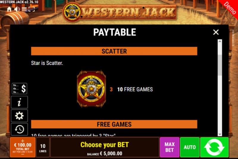 Western Jack :: Scatter Symbol Rules