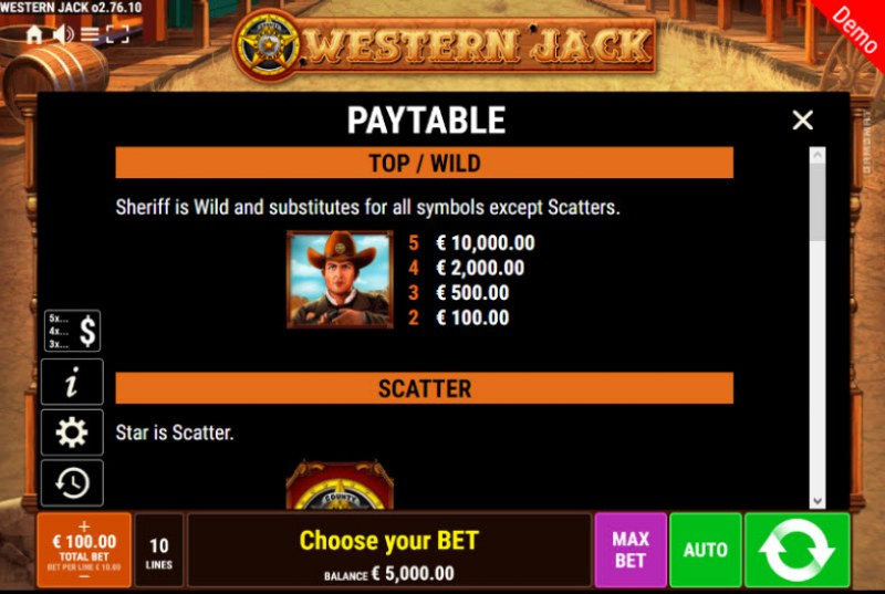 Western Jack :: Wild Symbols Rules
