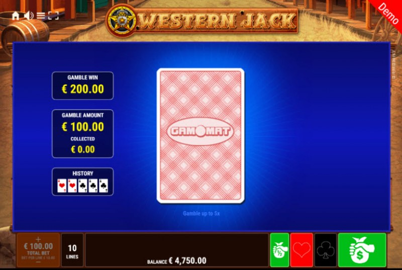 Western Jack :: Red or Black Gamble Feature