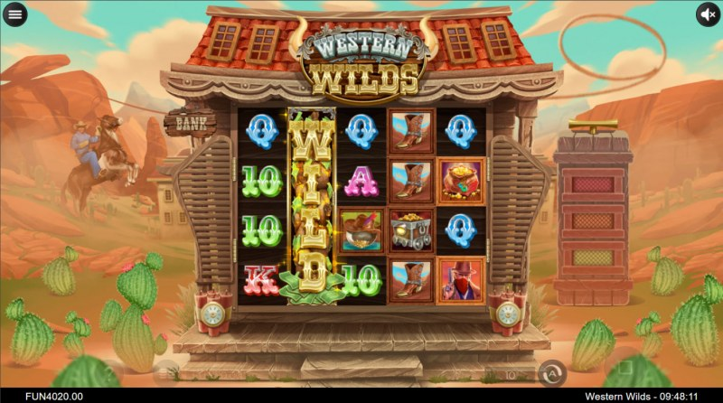 Western Wilds :: A three of a kind win