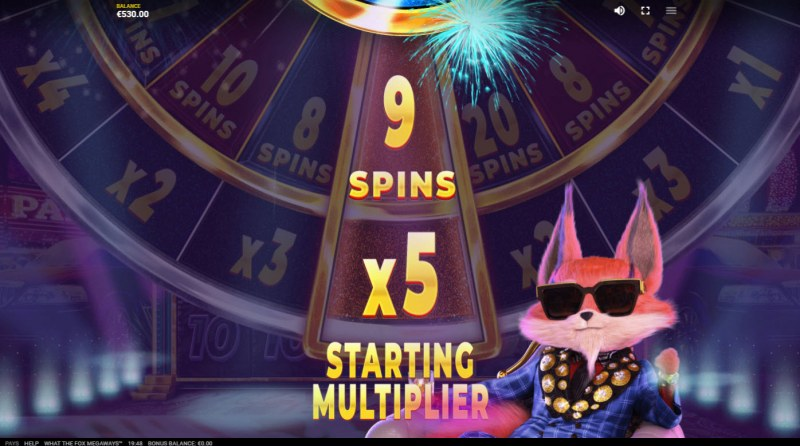 What the Fox Megaways :: Spin the wheel to determine the free spins and multiplier