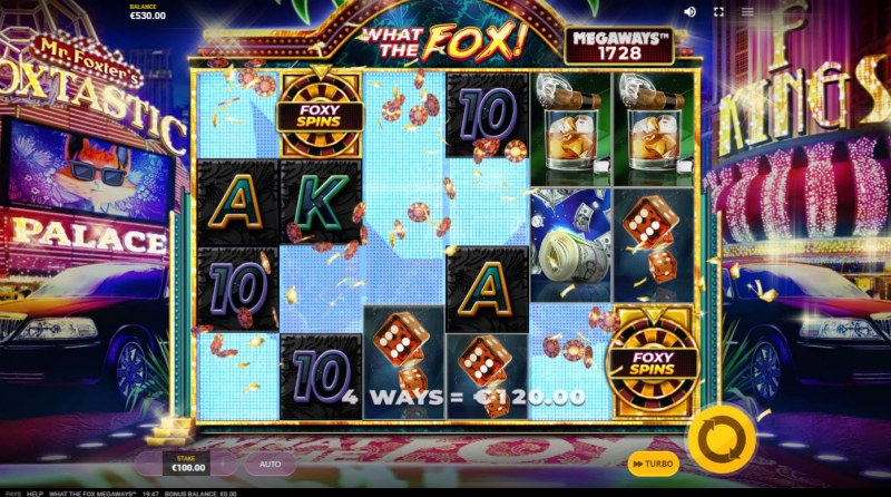 What the Fox Megaways :: Winning symbols are removed from the reels and new symbols drop in place