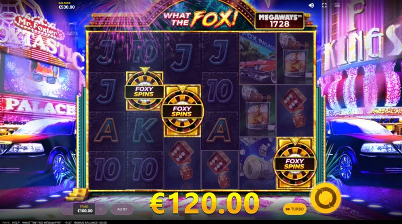 What the Fox Megaways :: Scatter symbols triggers the free spins bonus feature