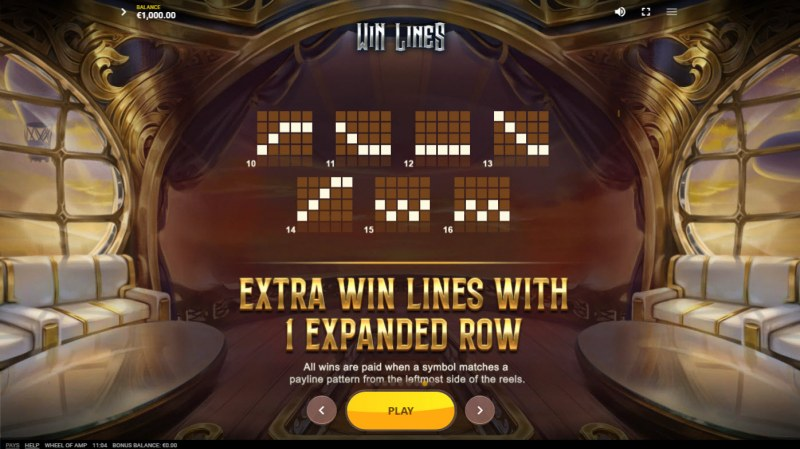 Wheel of Amp :: Extra Win Lines with 1 Expanded Row