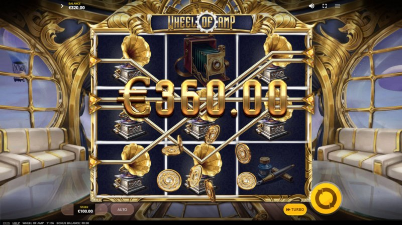 Wheel of Amp :: Multiple winning paylines
