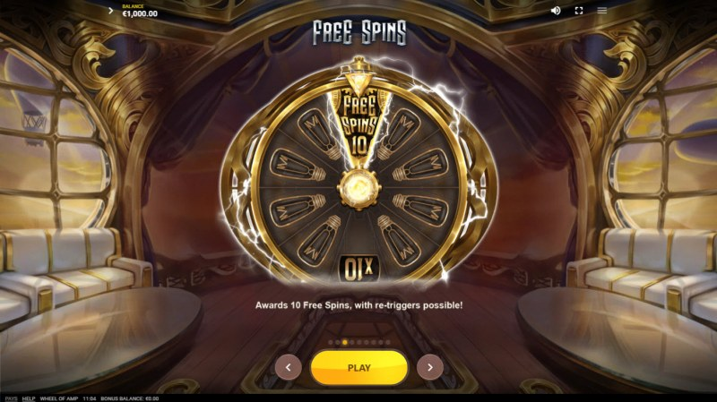 Wheel of Amp :: Free Spin Feature Rules