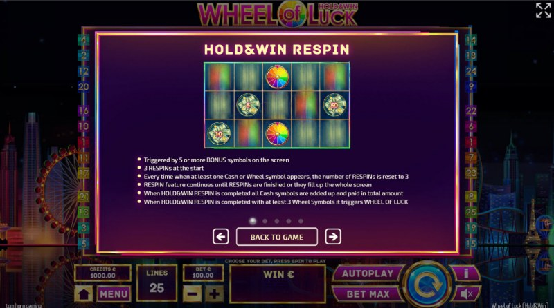 Wheel of Luck Hold & Win :: Hold and Respin Feature