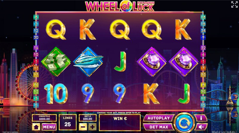 Wheel of Luck Hold & Win :: Base Game Screen