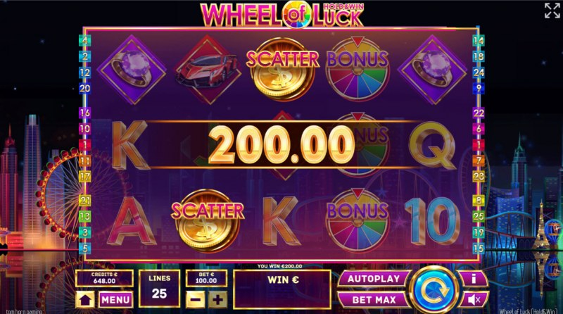 Wheel of Luck Hold & Win :: Scatter Win