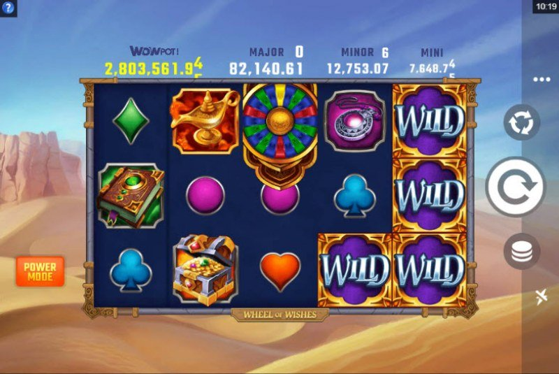 Play slots at Bet it All: Bet it All featuring the Video Slots Wheel of Wishes with a maximum payout of $2,000,000