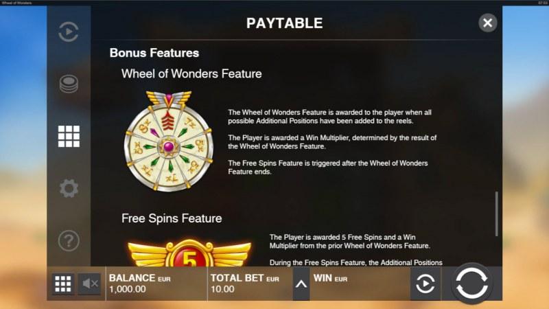 Wheel of Wonders :: Bonus Wheel