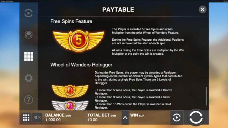 Wheel of Wonders :: Feature Rules