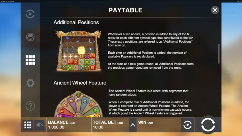 Wheel of Wonders :: Additional Positions