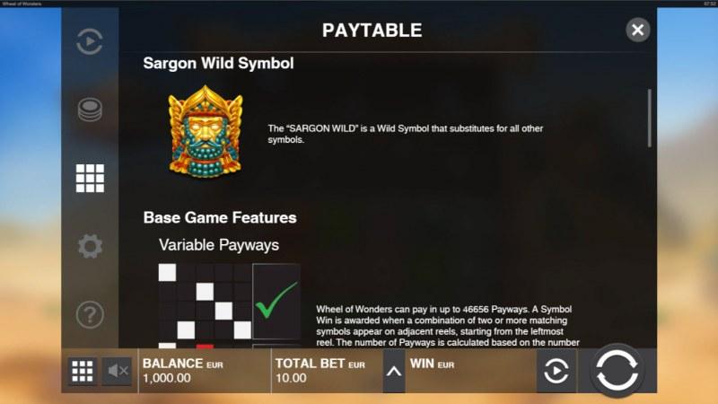 Wheel of Wonders :: Wild Symbol Rules