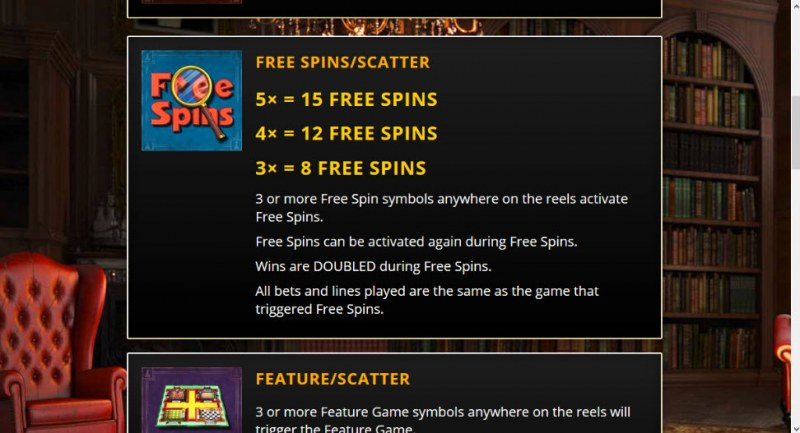 Who Dun It :: Free Spins Rules