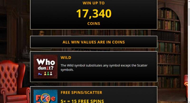 Who Dun It :: Wild Symbols Rules