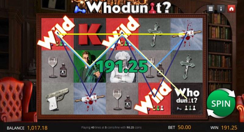 Who Dun It :: Multiple winning paylines