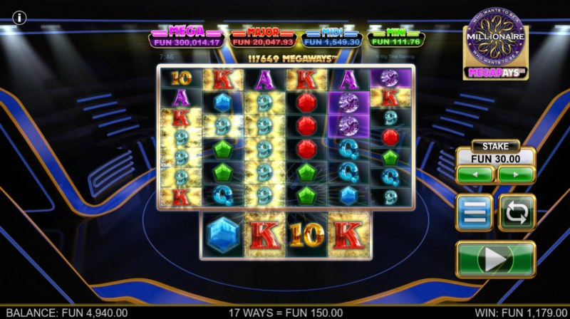 Who Wants to be A Millionaire Megapays :: Multiple winning combinations