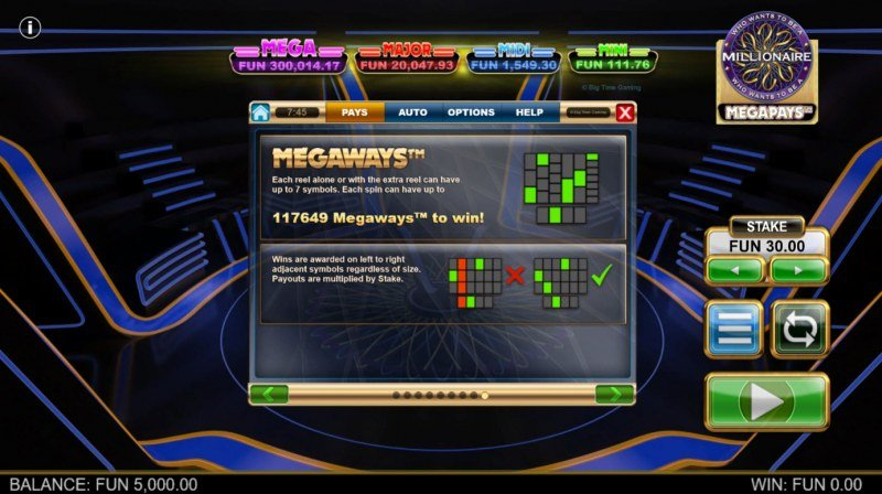 Who Wants to be A Millionaire Megapays :: Megapays
