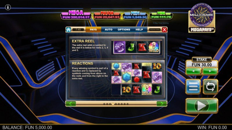 Who Wants to be A Millionaire Megapays :: Feature Rules