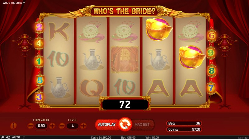 Who's The Bride :: Scatter Win