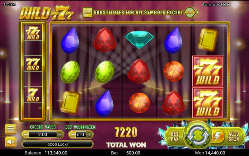 Wild 777 :: Total Feature Payout
