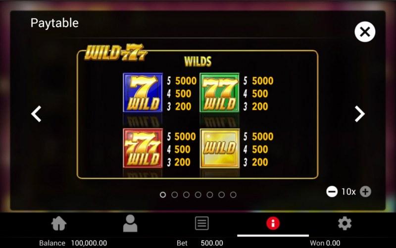 Wild 777 :: Wild Symbol Rules