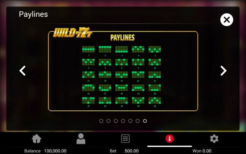 Wild 777 :: Paylines 1-25
