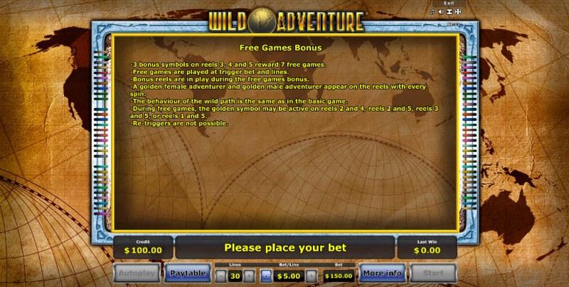 Wild Adventure :: Free Games Bonus