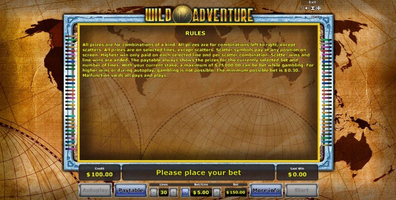 Wild Adventure :: General Game Rules