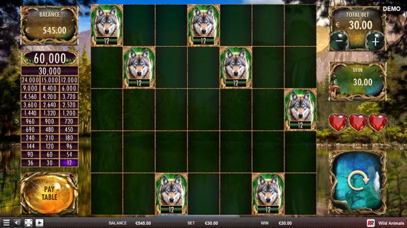 Wild Animals :: Free Spins Game Board