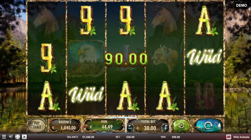 Wild Animals :: Multiple winning combinations