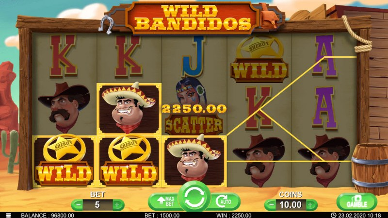 Wild Bandidos :: Three of a kind